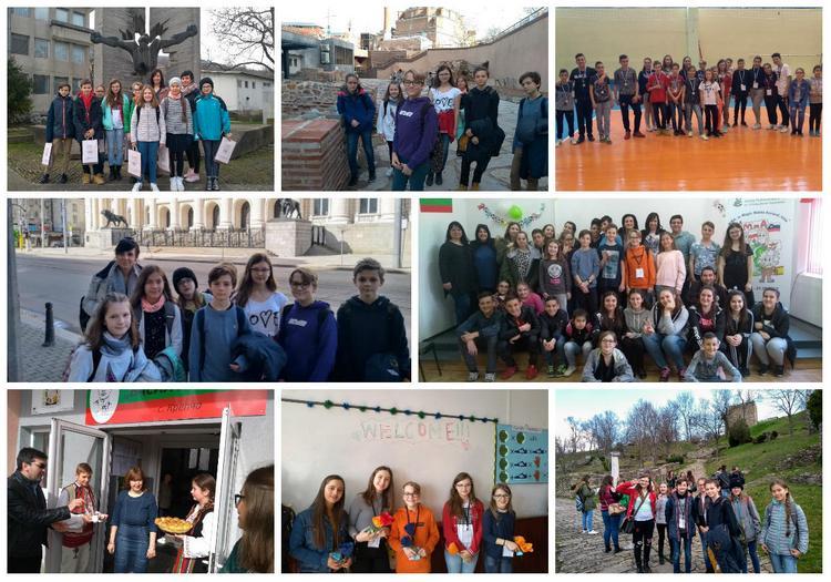 Wizyta wszkole partnerskiej wBułgarii