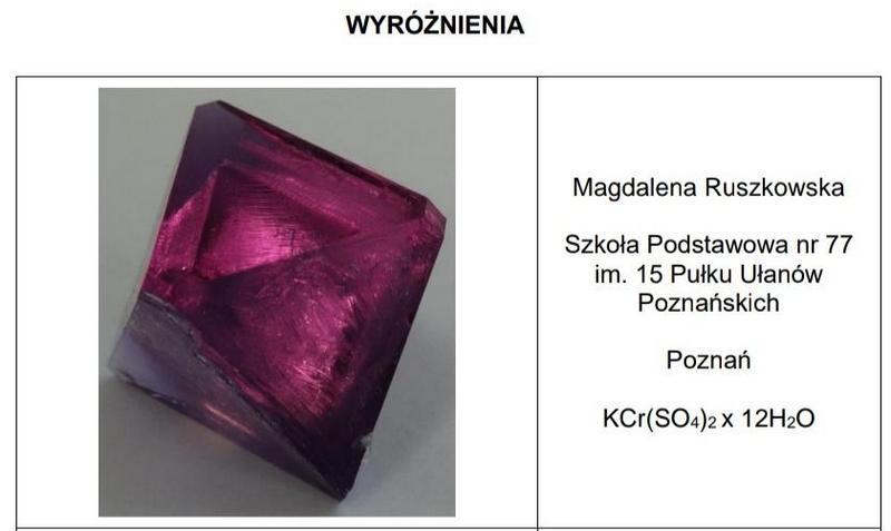 Ogólnopolski Konkurs Wzrostu Kryształów